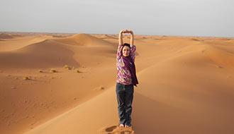 Yoga dans le désert, un voyage Yogarts